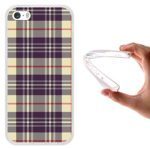 iPhone SE iPhone 5 5S Hülle, WoowCase® [ Hybrid ] Handyhülle PC + Silikon für [ iPhone SE iPhone 5 5S ] Bäume und Universum Handytasche Handy Cover Case Schutzhülle - Transparent Housse Gel iPhone SE iPhone 5 5S Transparent D0543