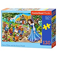 Castorland B-13401-1 Puzzle Snow White and The Seven Dwarfs 120 Pieces
