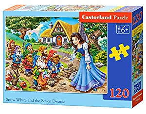Castorland Snow White and The 7 Dwarfs 120 pcs Puzzle - Rompecabezas (Puzzle Rompecabezas, Dibujos, Niños, Niño/niña, 6 año(s), Interior)