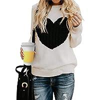 Tuopuda Maglione Donna Girocollo Maglioni Invernali Oversize Sweatshirt Manica Lunga Ragazza Pullover Logo del Cuore…