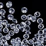 Faburo 3000 Stück Deko Diamanten Hochzeit Streudeko 6mm ,Transparent Kristall Dekosteine Tischdeko Diamanten - 4