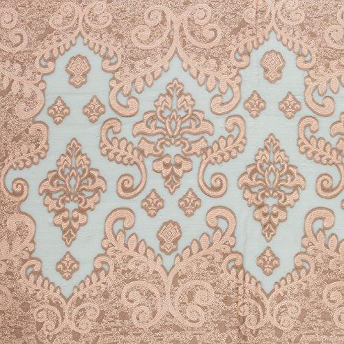 CASPAR SC454 Echarpe élégante avec joli motif Paisley pour femme Vieux Rose
