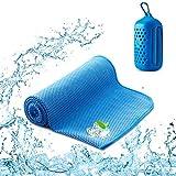 SKL Kühlendes Handtuch Microfaser Handtuch für sofortige Cool Schweißsaugfähig Kühlendes Kaltes Eishandtuch, Sofort Eis Kalt Sport Mikrofaser Handtücher für Fitness Reise Yoga Golf Schwimm Camping