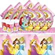 Disney Princess Children's Girl's Complete Birthday Party Tableware Pack Kit For 8 Guests