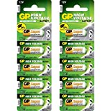 GP 23A/MN21 12 Volt (12v), 10Stück Batterien Alkaline 23AE 12V