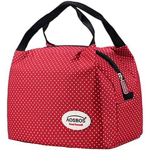 Aosbos Recycled Insulated Lunch Box Tote Cooler Bag(Macloon