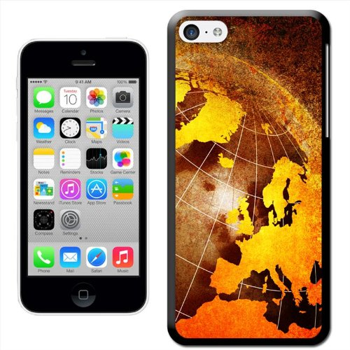 Fancy A Snuggle 'Flying auf der ganzen Welt Flugzeug' Hard Case Clip On Back Cover für Apple iPhone 5C Abstract Grunge View Of Earth
