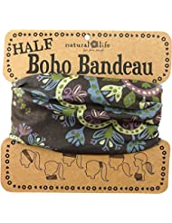Natural Life Boho Bandeau - Bandana para mujer, color negro, talla M