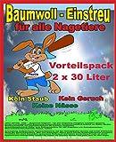 Baumwolleinstreu 2 x 30 Liter