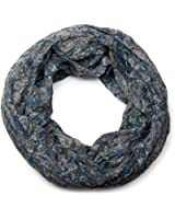 styleBREAKER Indian Style Paisley Muster Loop Schlauchschal, seidig leicht, Unisex 01016089