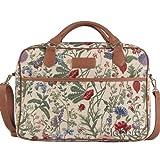 SIGNARE Maletín tapiz moda para mujer bolsa para portátil, 15,6' Jardín por la mañana