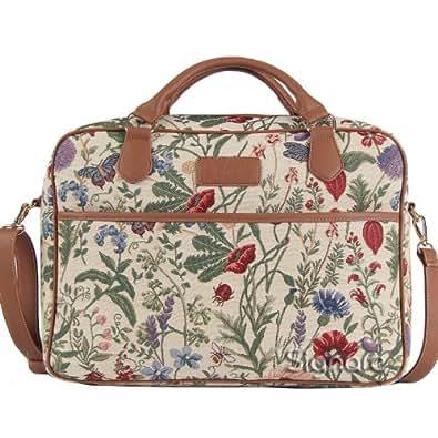 "Signare mallette sac ordinateur portable tapisserie 15.6"" mode dames Jardin de matin"