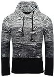 Carisma Herren - Strickpullover 7396 Streetwear Menswear Autumn/Winter Knit Knitwear Sweater CRSM CARISMA Fashion, Black, L