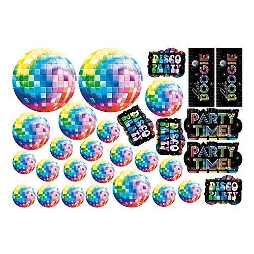 Generique - 30 Disco-Motive Dekoset aus Pappe