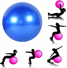 InSale with Device Anti-Burst Fitness Exercise Stability Yoga Ball,75 cm