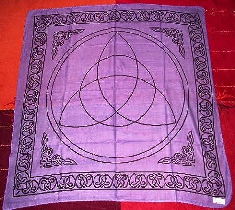 Triquetra Altar Tarot Cloth Cotton Wicca Pagan New