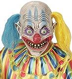 Widmann 00403–Maske Psycho Clown mit Haar Zweifarbig, Einheitsgröße