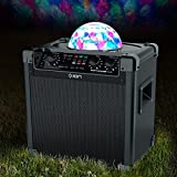 ION Audio Party Rocker Plus Portable Bluetooth Party Speaker System, Karaoke Machine Built-In Rechargeable Battery, App-Controlled Party Light Display and Microphone