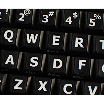 Qwerty Keys English Uk Large Lettering Upper Case Non Transparent