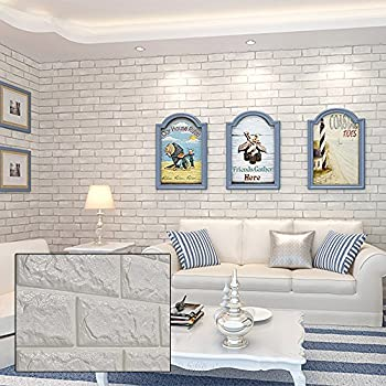 MultiWare 3D Brick Wall Stickers Self Adhesive Panel Decal PE Wallpaper
