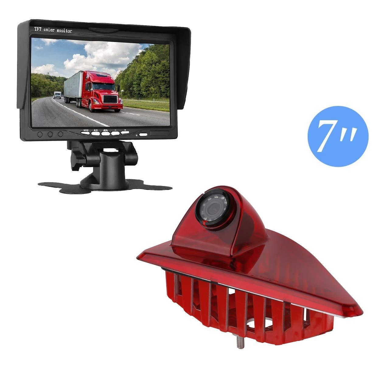 HD-Dritte-Dach-Bremsleuchte-Kamera-Bremslicht-Einparkkamera-Rckfahrkamera-Set-Nachtsicht-70-Zoll-Monitor-Bildschirm-LKW-KFZ-Display-fr-OPEL-Movano-B-Nissan-NV400-Renault-Master-III-2010-2019