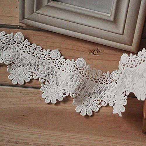 Elfenbeinfarben 3Meter Baumwolle Spitze Victorial Venise Spitzenband Stoff Spitze Kostüme Supplies 23/20,3cm ()