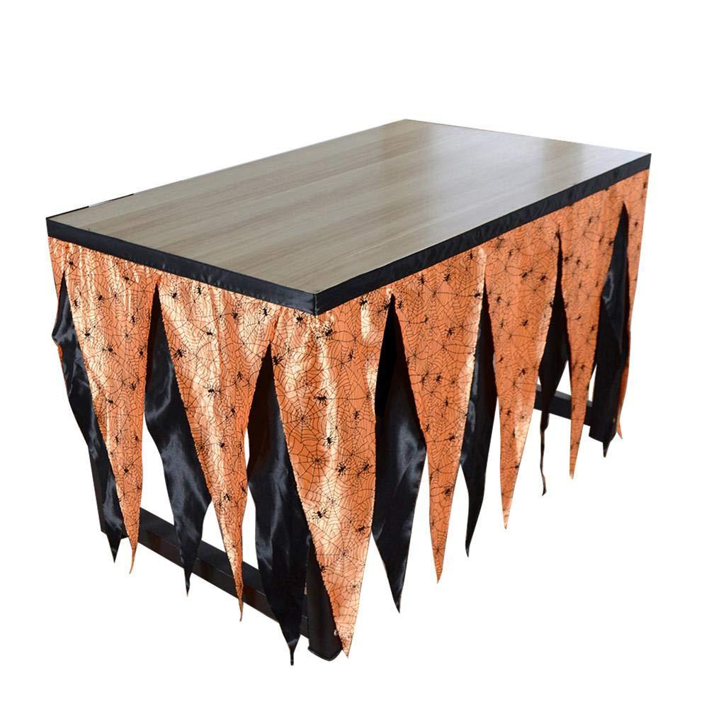 Tabelle Schürze Halloween Tischdecken Dekorationen Tischrock hawaii Tischröcke Tischdeko Kinderpartyzubehör…