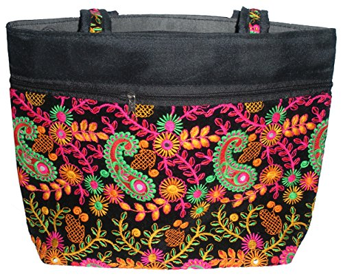 HANDICRAFTS ETHNIC WOMAN HAND BAG ( EMBROIDERED BAGS 19 IN/13IN)  available at amazon for Rs.500