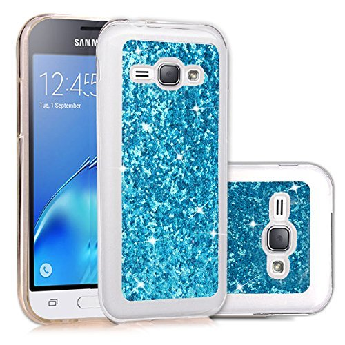 DAMONDY Galaxy Luna/Express 3/AMP 2/J12016Fall, 3D Cute Bling Premium Glitter Ultra Klar Soft TPU Case Hybrid Slim Cover für Samsung Galaxy J12016/AMP 2/Express 3Nur Blau