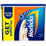 Horlicks Standard Health and Nutrition Drink - 2x500 g (Classic Malt) with Free Container