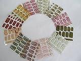 Oferta Fantásticas: 12 x hojas de láminas de pegatinas de arte para uñas en 3D para cobertura completa de uñas. Pegatinas de Manicura para Diseño de Uñas Postizas con Gemas, Brillos, Envolturas para Dedos, Estampados de Animal, Leopardo, etc. - de Fa