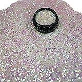 online-hut 1 Döschen Glitterpailetten 1mm Weiß Irisierend