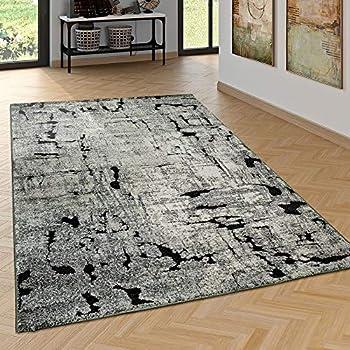 Dimension:60x100 cm Tapis Poils Ras Salon Aspect Usé ...