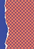 Orange and Blue Journal: (7 x 10)(Dot Grid) Blank School Colors Notebook College High School Student Organizer Planner Alumni Booster Club Planner ... Diary Unique Plaid Cover Torn Paper Binding