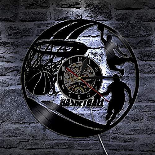 FSKJGZ Wanduhr Vinyl Sonic Spiel Schallplatte Uhr Kreative Antiken Stil Wanddekor Led Uhr Geschenk Für Kinder Stille Schallplatte Uhr Mit 7 Uhr