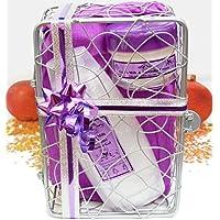 Latte di capra e lavanda Gift Set by Eleganza Naturale Cura Della Pelle, ottima come regalo, in confezione in metallo basket. per eczema psoriasi Pelle Secca dermatite Rosacea.