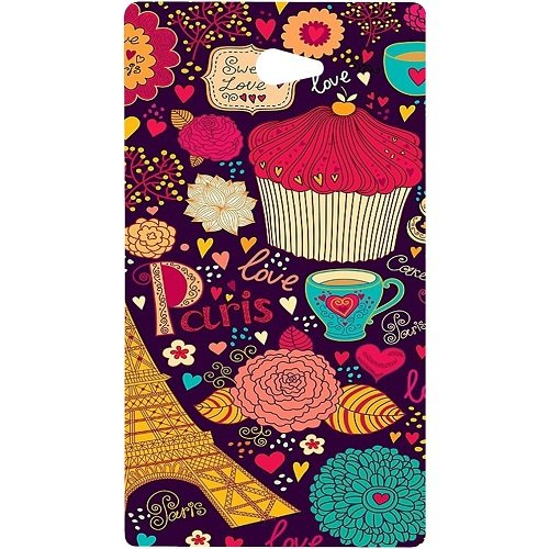 Casotec Paris Flower Love Design Hard Back Case Cover For Sony Xperia M2  available at amazon for Rs.329
