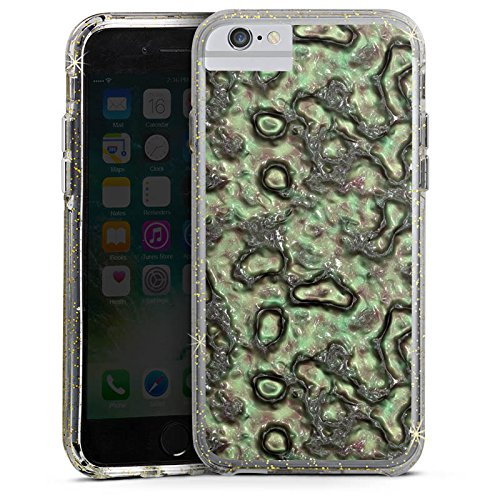 Apple iPhone 6s Bumper Hülle Bumper Case Glitzer Hülle Slime Green Abstrakt Bumper Case Glitzer gold