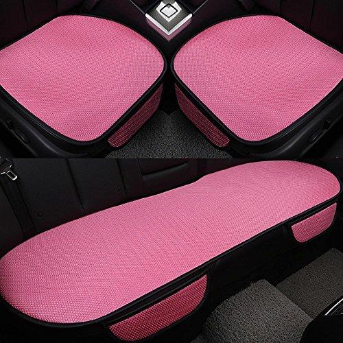 NACHEN Coussins de sièges d'auto 3 pièces Brosses de sécurité Coussin de siège intérieur Tapis de tapis All Seasons for Auto Car Supplies Chaise de voiture, pink