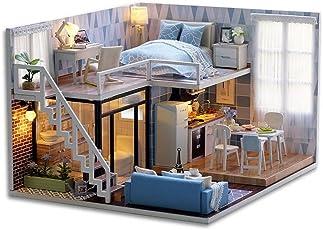 MOPIXIE Wooden DIY Doll House (Multicolour)