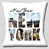 Nueva York Grande Foto letras NYC América EEUU Viaje - 40.6cm (40cm) Funda De Cojín