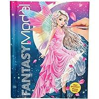 TOPModel 3433.001 Fantasy Model Malbuch Cover mit LED Lichtern und Sound, 80 Innenseiten 4-farbig, 2 Stickerbogen