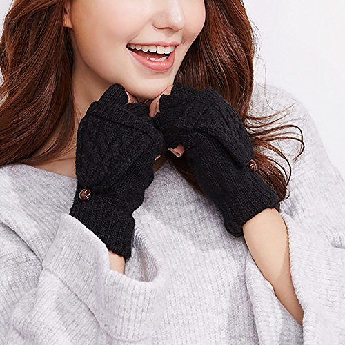 Gestrickte Handschuhe Frau Handschuhe Winter Half Finger Knit Warm Herbst Studenten Lernen / Schreiben / Outdoor Fahren / Reiten Handschuhe Warme Handschuhe ( Farbe : B )