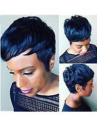 Newfb 100% brésiliens vierges Cheveux humains 27pièces Cheveux Tissage avec fermeture gratuit et bonnet de douche...
