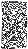 Bersuse 100% Cotone - Asciugamano Turco Venice - Doppio strato - Peshtemal Fouta per Bagno e Spiaggia - Pestemal tessuto a mano con Design Mandala - 100X180 cm, Nero