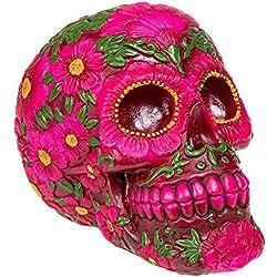 Nemesis Now Figura Skull Sugar Blossom (Rosa)