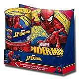 Kids Licensing–Set Geschenk–Kissen und Kuscheldecke mit Dem Bild von Spiderman, mv15274