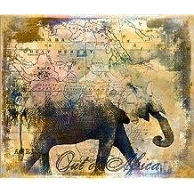 Cuadro sobre lienzo 80 x 70 cm: Out of Africa de Andrea Haase - cuadro terminado, cuadro sobre bastidor, lámina terminada sobre lienzo auténtico, impresión en lienzo