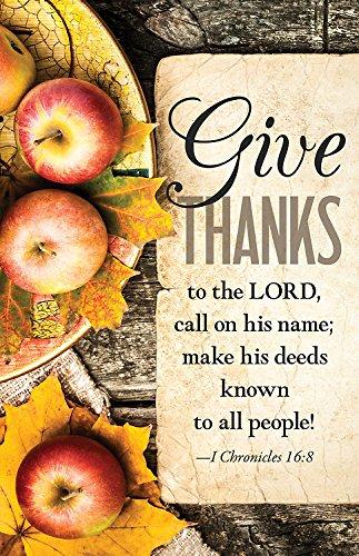 Give Thanks Apples Thanksgiving Bulletin (Pkg of 50) -
