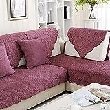Divano cuscini,tessuto semplicità moderna antiscivolo peluche divano asciugamano,cuscino in stile europeo pieno-coperto della finestra di legno solido-A 110x160cm(43x63inch)